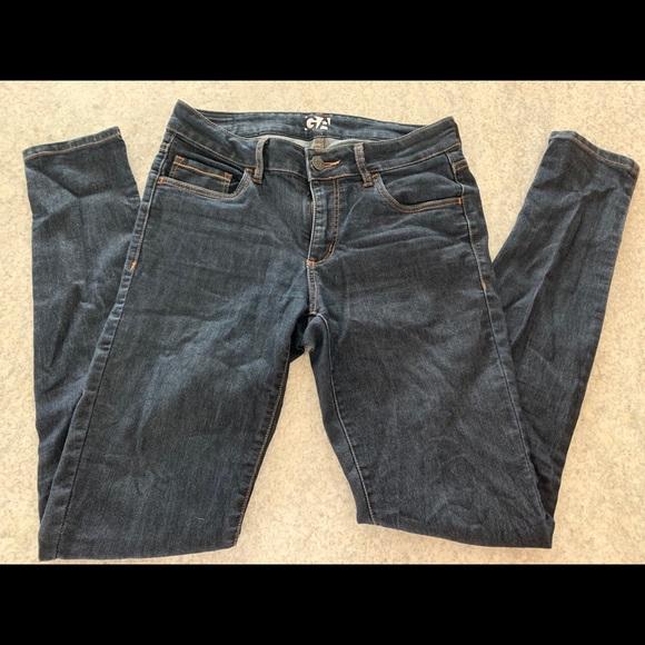 Garage High Waist Dark Wash Skinny Jeans - Size 5